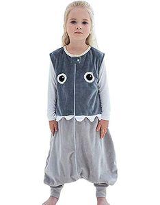 Baby Winter Schlafsack mit füßen, Mädchen Junge Flanell Warm Babyschlafsack ohne Ärmel mit Beinen Overall Schlafanzug