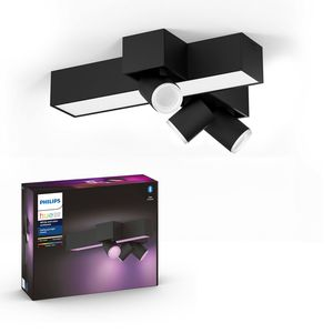 Philips Hue Bluetooth White & Color Ambiance Spot Centris Cross 3-flammig in Schwarz