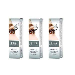 FEG Eyelash Enhancer Eye Lash Rapid Growth Serum Liquid 3ml (3 Pack)