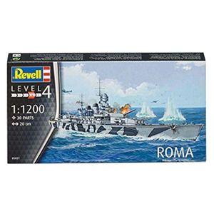 Revell Modellbausatz Schiff Roma, Maßstab 1:1200, Level 4, Nr.: 05821