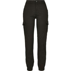 Urban Classics TB3048  Ladies High Waist Cargo Pants, Größe:27, Farbe:Black