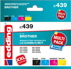 EDDING Multipack 4 Brother LC1240 - reman