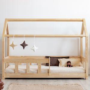 Selsey Kinderbett MALLORY Hausbett mit Rausfallschutz aus Kiefernholz 90x200 cm