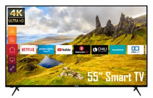 Telefunken XU55K521 55 Zoll Fernseher (Smart TV inkl. Prime Video / Netflix / YouTube, 4K UHD, HDR)