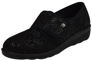 Romika Damen Hausschuhe  Textil schwarz 42