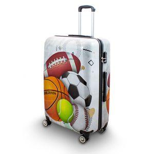 Motiv Koffer Sport Fußball Tennis Handball Rugby 4 Rollen Trolley 76 cm Bowatex