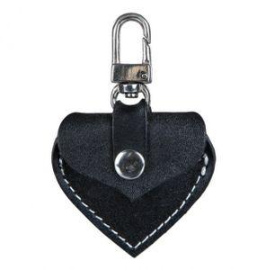 Adressanhänger Herzform Leder TRIXIE 5,5x5cm schwarz