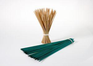 Bambus Splittstäbe 100 St. 70 cm grün Feliwa Pflanzstäbe Pflanzenstäbe  Rankhilfe Pflanzstab