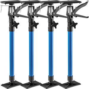 tectake 4 Türspanner, 51 bis 115cm - blau