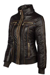 Trisens Damenjacke im Bikerlook mit Kapuze – leichte Übergangsjacke, Farbe:Schwarz, Größe:M