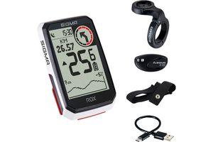 Sigma Sport ROX 4.0 HR Set GPS-Fahrradcomputer mit Herzfrequenzsensor White