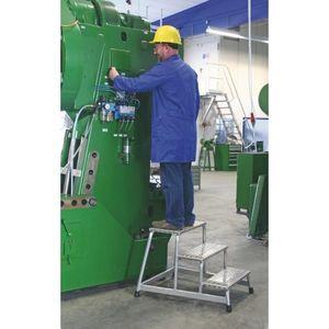 Günzburger Arbeitspodest 2 Stufen Podest-H.400mm Aluminium -Riffelblech - 50008