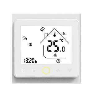 ZigBee Intelligenter Thermostat Programmierbarer Temperaturregler Fußbodenheizung ZigBee Hub Erforderlich Smart Life Tuya APP-Fernbedienung Kompatibel mit Alexa Google Home Voice Control - BHT-002-GALZBW