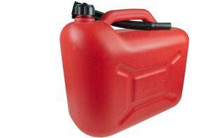 Benzinkanister Kanister Kraftstoffkanister 10L ROT/SCHWARZ Reservekanister