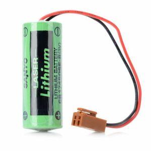 2 Pack Sanyo CR17450SE-R 2000mAh 3V Li-Ion PLC Industriebatterien mit Widerstand / Stecker