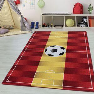 Teppium Kinderteppich, Kinderzimmerteppich, Fussball Spanien, Rechteckig GELB, Farbe:GELB,100 cm x 150 cm