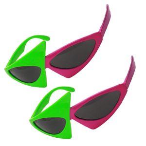 2 Stück Partybrille Spaßbrille Sonnenbrille Lustige Augen Brille Kostüme Foto Prop