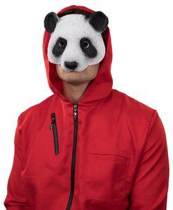 Kostüm Zubehör Maske Panda Tier weiß schwarz Karneval Fasching