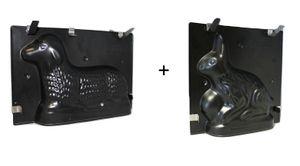 Spezial Backset Ostern, Osterlamm + Osterhase Backform Kuchenform 3D, Springform