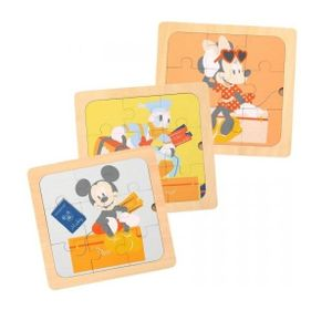 Disney Mickey Mouse & Freunde 3in1 Holz Puzzle 30 Teile