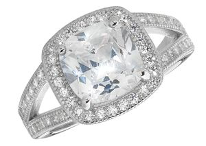 Exquisiter 925 Sterling Silber Solitär Verlobung Damen - Ring mit Zirkonia,, 53 (16.9); WJS22326