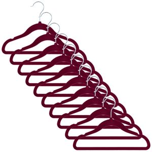 5x Samt Kinder Kleiderbügel mit Anti-Rutsch-Beschichtung Hosenbügel Anzugbügel Hemdenbügel Kunststoffbügel