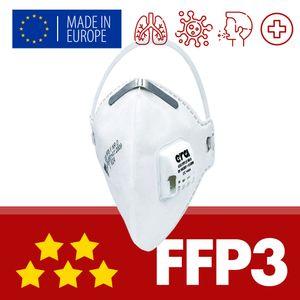 FFP3 Atemschutzmaske mit Ventil, Atemmaske, Gesichtsmaske, Feinstaubmaske, Mundschutz Maske, Schutzmaske, Filtermaske, Mund Nasenschutz Maske, Atemschutz
