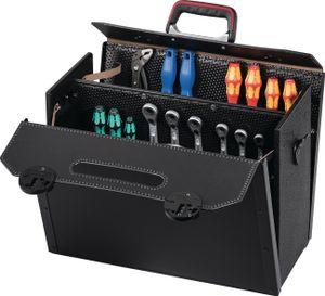 Werkzeugtasche Rindleder schwarz 460x210x340mm PARAT m.Mittelwand