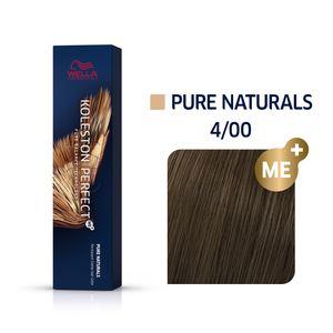 Wella Professionals Koleston Perfect Me+ Pure Naturals Professionelle permanente Haarfarbe 4/00 60 ml
