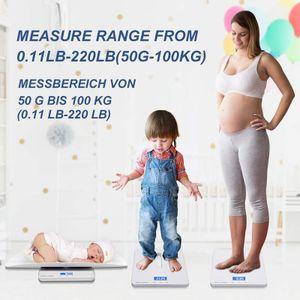 Elektronische Babywaage,hochpräzise elektronische Waage,doppelter Verwendungszweck für Baby und Mutter,abnehmbares Tablett
