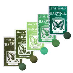 5 x 10g Batikfarbe Textilfarbe Stofffarbe färben, bitte Farbmix wählen, Farbe:Grüntöne