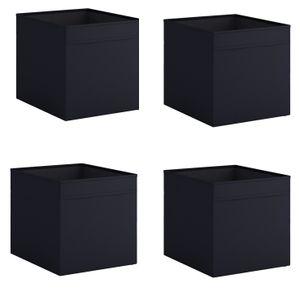 4x Dröna Set Ikea schwarz Box für Regal Kallax Aufbewahrung Kiste