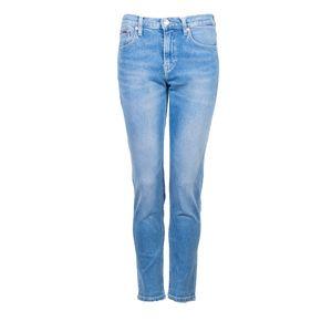 """Tommy Jeans Hose """"Izzy"""" -  DW0DW06285   Izzy Higg Rise Slim Cropped - Blau-  Größe: 27/32(EU)"""
