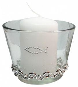 SET : 3 Kerzen & 3 Gläser Tischdekoration Hochzeit Taufe Kommunion Konfirmation VK006