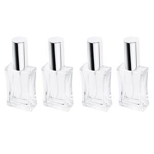 4 Stk 50ml Leer Quadratisch Glas Parfüm Zerstäuber Parfüm Flasche Parfum Spray Pumpe