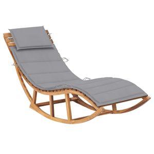 [Gartenmöbel] Sonnenliege Gartenliege Schwingliege klappbare Relaxliege Liegestuhl mit Auflage Massivholz Teak☆4442