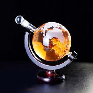 1000ml Whisky Dekanter Globus Glas Spirituose Weindekanter Bar Dekoration Weinspender