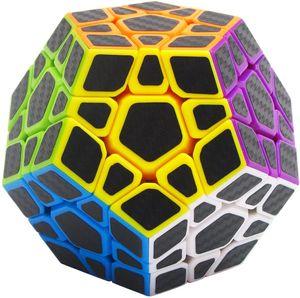 Zauberwürfel Megaminx Speed Puzzle Cube, Dodekaeder Magic Cube Zauber Würfel PVC Aufkleber für Kinder und Erwachsene, Schwarz