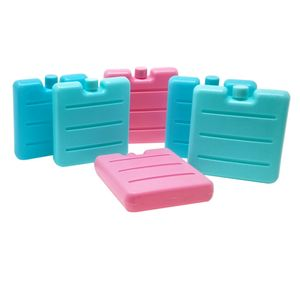 ToCi 6er Set kleine Kühlakkus in Blau, Pink und Grün | Mini Kühl-Elemente für die Kühltasche | Kühl-Akku für die Brotdose
