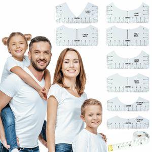 9 Stück / Set T-Shirt Führungslineal PVC T-Shirt Ausrichtungslineal Messlineal Nählineal DIY Crafts Nähzubehör