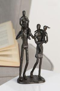 Casablanca Design Skulptur Family brüniert H 22 cm Familie und Kinder