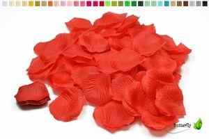100 Stück Rosenblüten 5cm, Farbe:rot 250