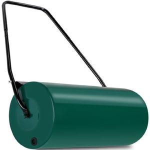 WYCTIN Rasenwalze 57cm 48l Füllvolumen Schmutzabweiser Metall Handwalze Rasenroller Gartenwalze Ackerwalze