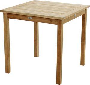 Teak Massivholz Gartentisch MEMPHIS 80x78x80 von PLOSS