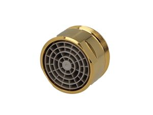 Stedo Mischdüse Strahlregler Luftsprudler Perlator M28x1 AG - Gold
