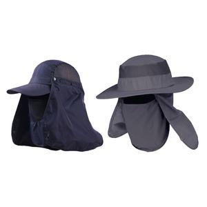2pcs Sonnenhut Baseball UV-Schutz Hüte Strandhut Fischenhut Sommerhut Sommer Outdoor Wanderhut Angelmütze