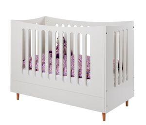 Babybett mit Buchefüßen 60x120cm Weiß