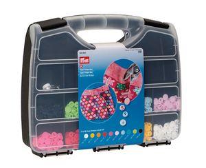 Prym Color Snaps Box, Sortiment-Box mit unterschiedlichen Color Snaps und Werkzeug-Set