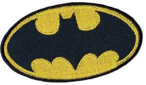 "KWM Applikation (B)88 x (H)44 mm ""Batman Logo"" zum Aufbügeln"