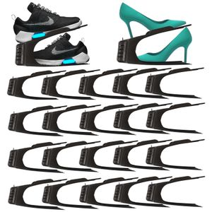 20er Set Schuhe Organizer Aufbewahrung | Schuhhalter Schuhstapler Schuhorganizer | Schuhaufbewahrung Platzsparend | Schuhbox Schuhregal